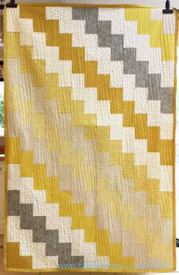 Modern Yellow Ochre Quilt made by Penny