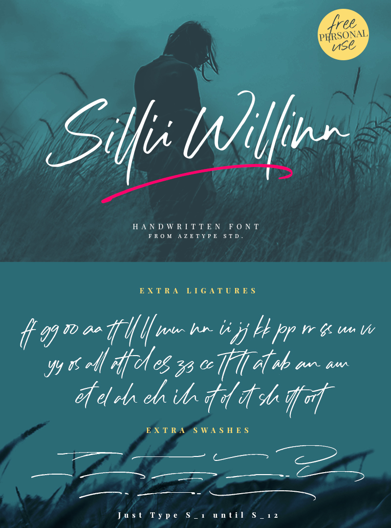 Sillii Willinn Signature Font Free Download