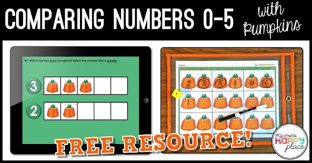 Comparing Numbers 0-5 Pumpkin Activities