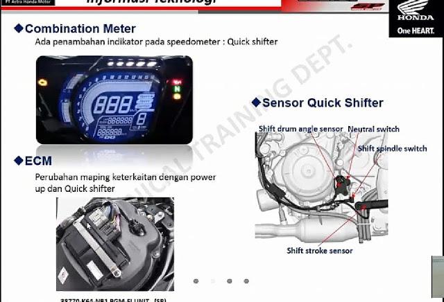 indikator quick shifter