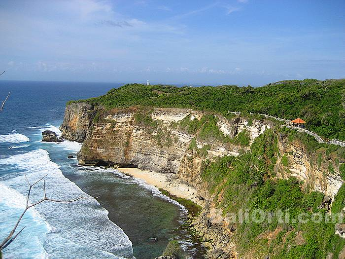 Beautiful scenery in Uluwatu viewed from the east