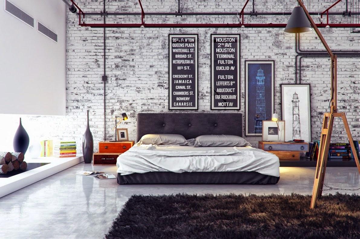 Decoraci n de dormitorios estilo industrial for Cofre de estilo industrial