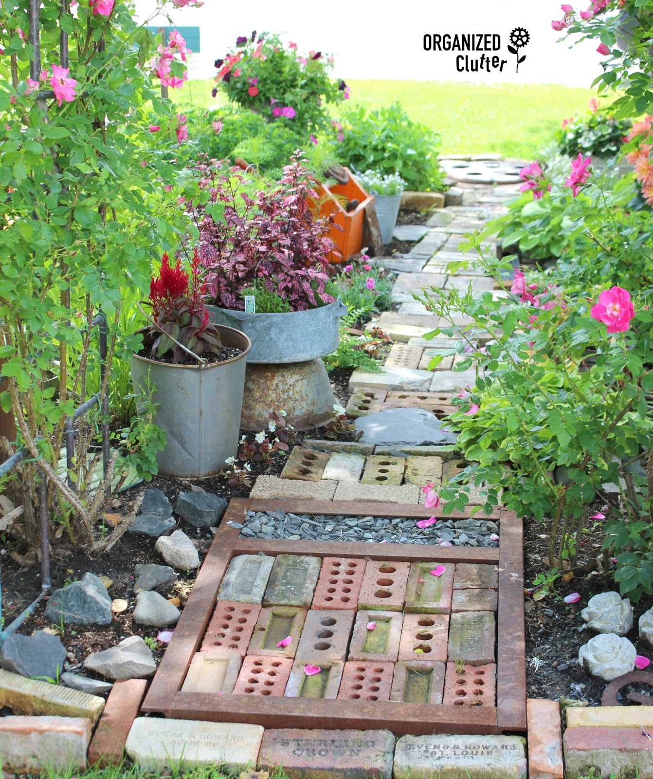 A Junk Garden Path Can Be A Work Of Art | Organized Clutter