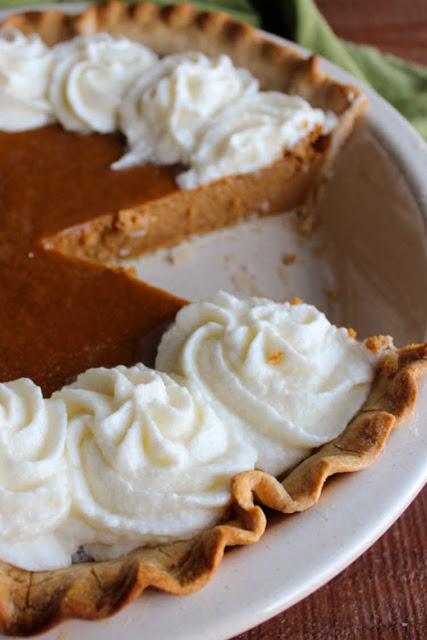 slice missing from sweetened condensed milk pumpkin pie