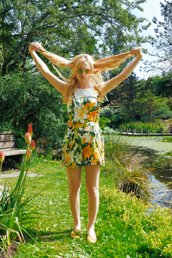 yellow and green romper