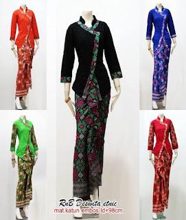 baju batik pramugari 2018