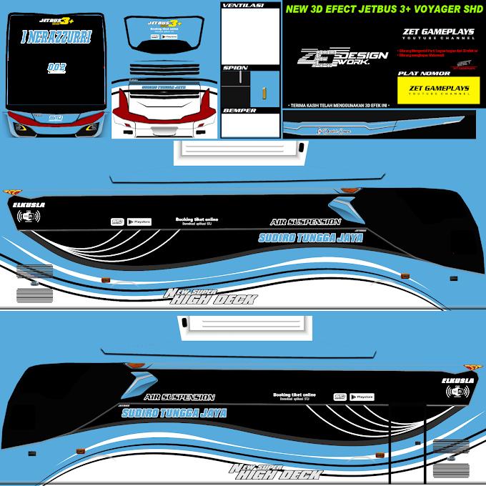 Sudiro Tungga Jaya Nerazzurri : Skin Livery Bus Simulator Indonesia