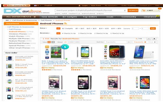 dealextreme shopping website