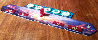 The military and scientific scoring track for 7 Wonders: Duel the card game