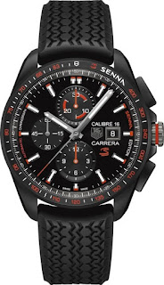 TAG HEUER CARRERA 100M Calibre 16 Automatic Chronograph Black Version 44MM SENNA SPECIAL EDITION
