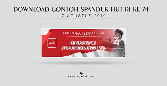 Download Contoh Spanduk HUT RI Ke 74 Format CDR