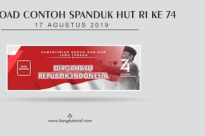 Download Contoh Spanduk HUT RI Ke 74 Format CDR