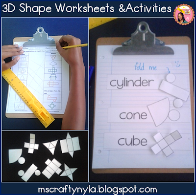 3D Shape Worksheets and Printables