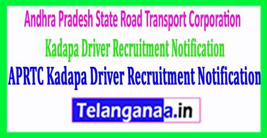 APSRTC Kadapa Driver Recruitment Notification 2018