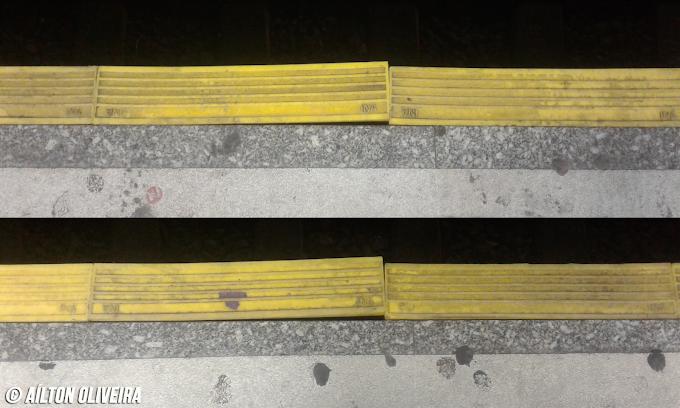 RECLAMAÇÃO: Borrachões instalados pela CPTM para reduzir o vão entre o trem e a plataforma já apresentam problemas com poucas semanas de uso