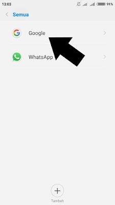 cara logout Gmail dari HP android