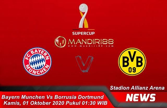 Prediksi Bayern Munchen Vs Borussia Dortmund, Kamis 01 Oktober 2020 Pukul 01.30 WIB @ Mola TV