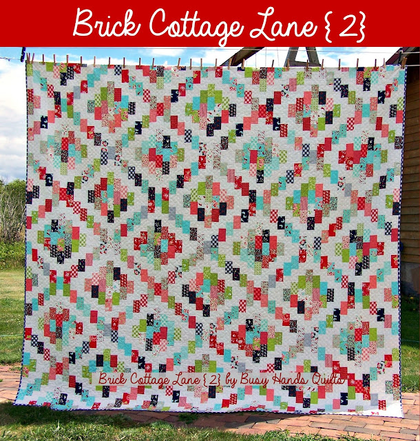 Brick Cottage Lane {2} Quilt Pattern by Myra Barnes