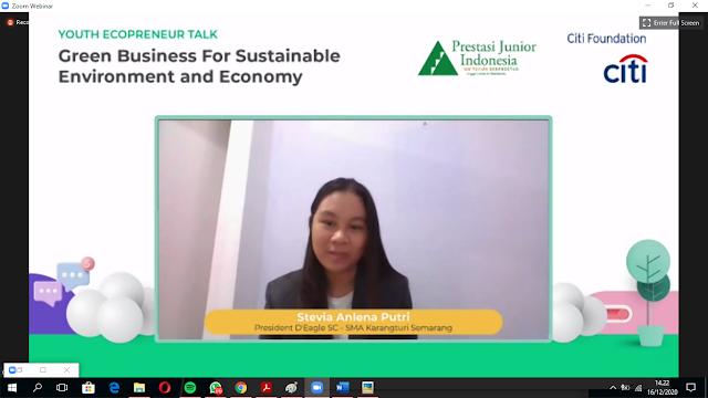 Stevia Anlena Putri, President D'Eagle SC dari SMA Karangturi Semarang