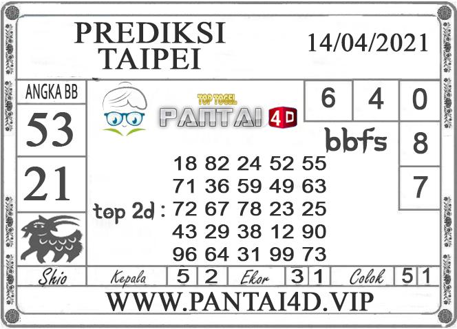 PREDIKSI TOGEL TAIPEI PANTAI4D 14 APRIL 2021