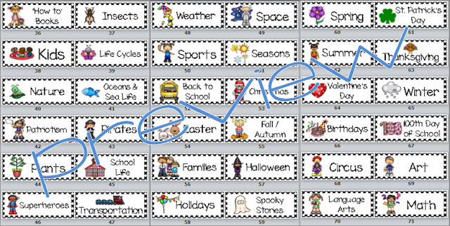 classroom library book sticker labels