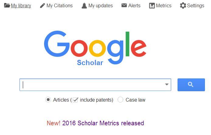 Google scholar digest 2016 google scholar metrics released a what is new in google scholar metrics 2016 stopboris Choice Image