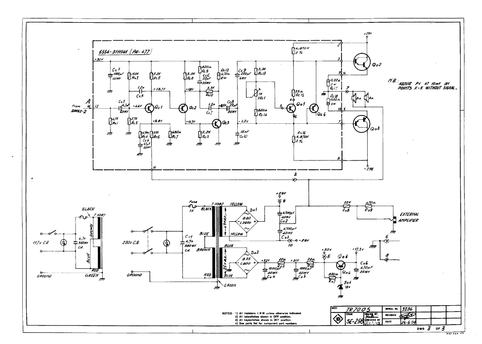 ECH = ELECTRONICS COMPIONATE HOUSE: FARFISA TR70 AMP repair Farfisa Schematic on