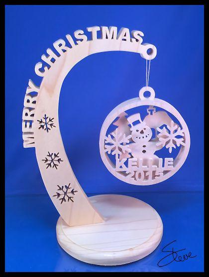 Scrollsaw Workshop: Christmas Ornament Stand Scroll Saw ...