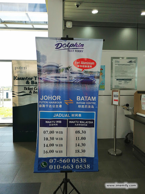 Dolphine Fast Ferry operating hour to Batam