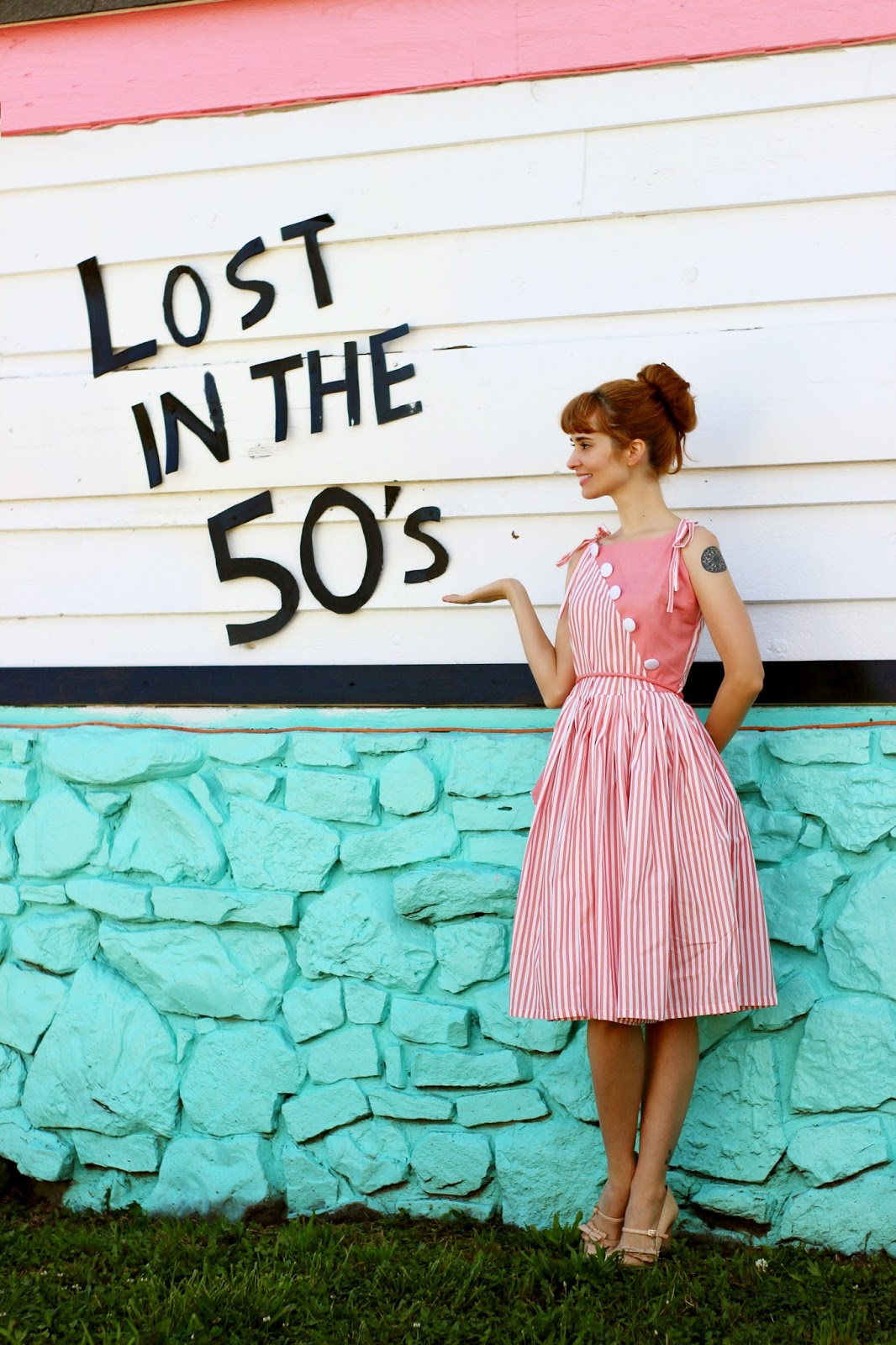 1950s Hamilton Swing Dress in Pale Peach Dress Review   Bleu Avenue
