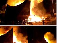 Kebakaran Dahsyat di Parbaba, Pangururan Hanguskan 3 Rumah Adat Batak