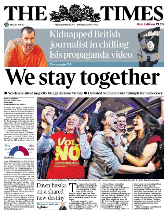 The Times, Sep. 19, 2014