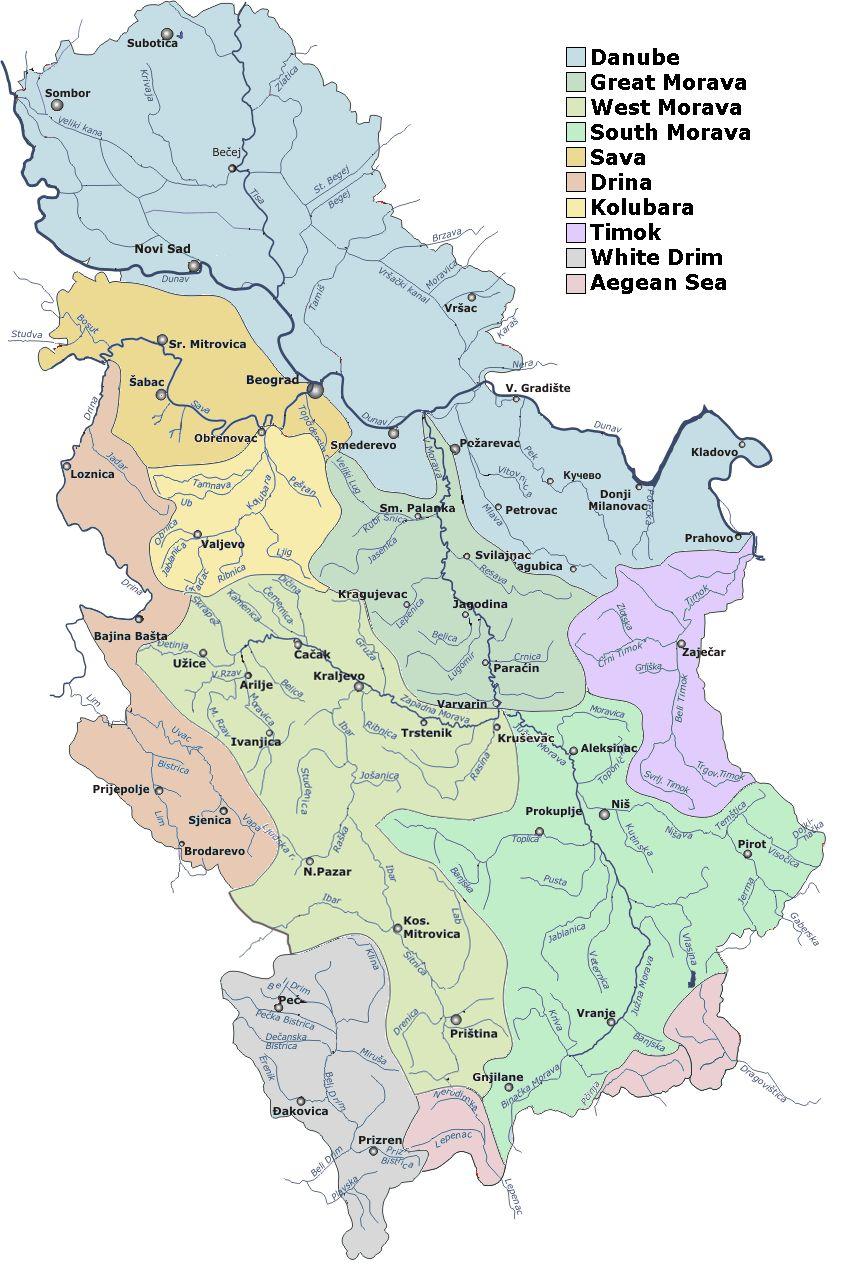 nema karta srbije planine Реке Србије | Nastava geografije nema karta srbije planine