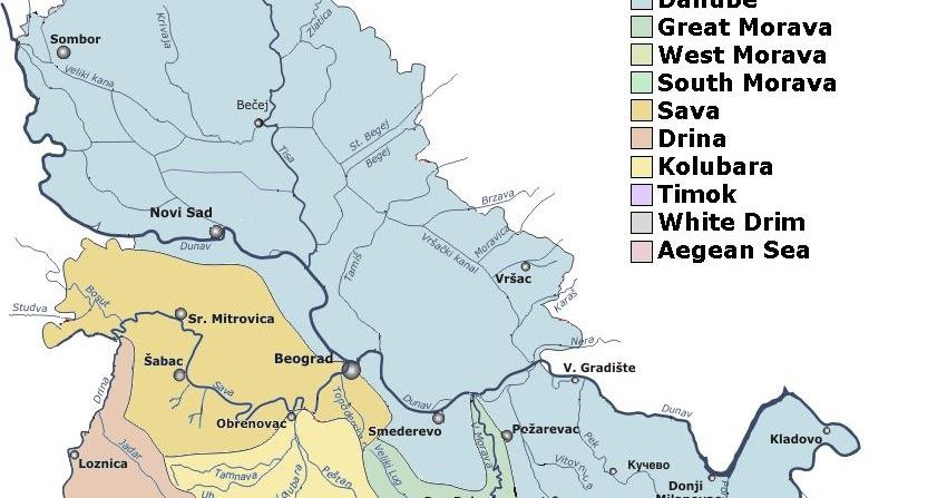 reke srbije karta Реке Србије | Nastava geografije reke srbije karta