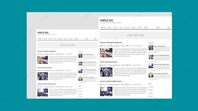 simple seo template blogger adsense