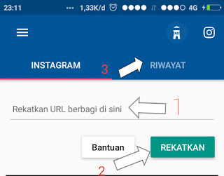 Cara download video IG