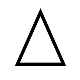 vector clip art of a isosceles triangle