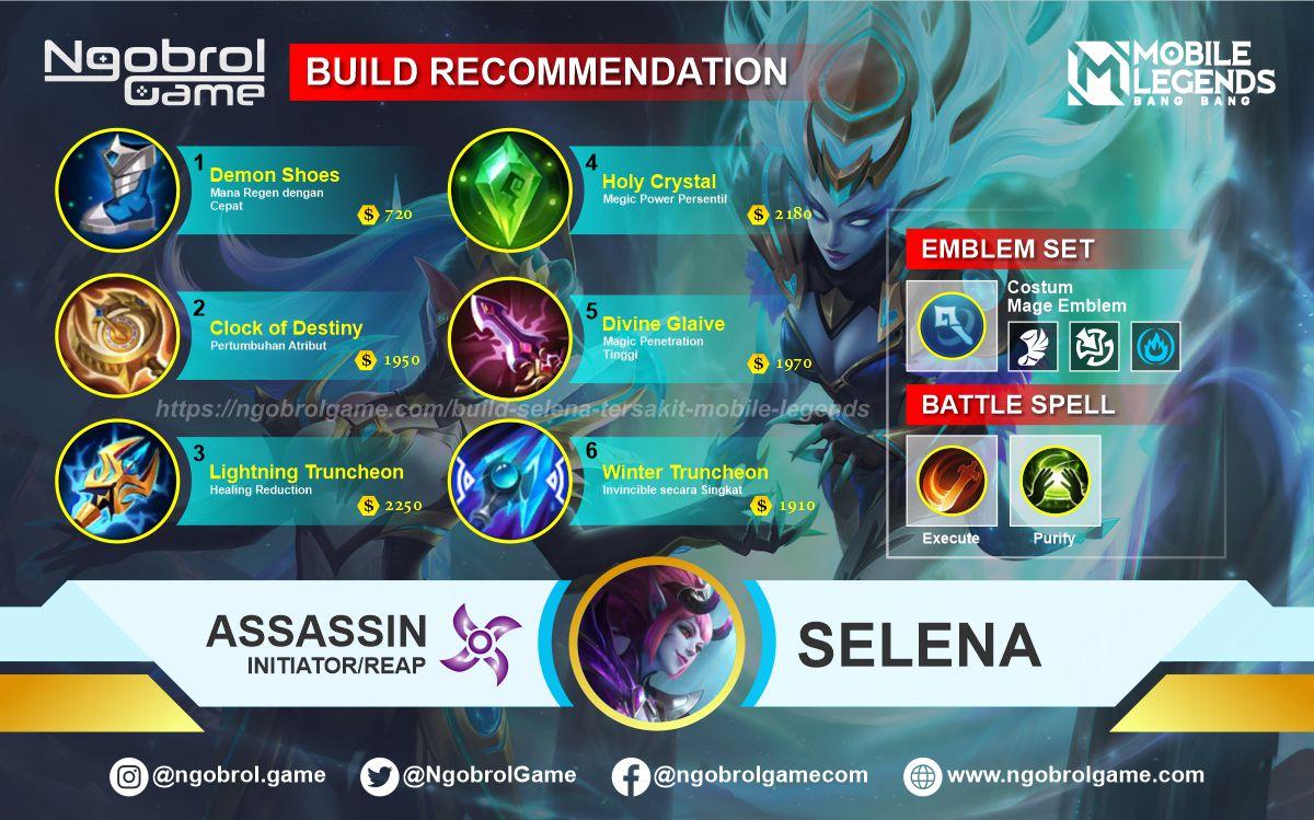 Build Selena Top Global Tersakit Mobile Legends