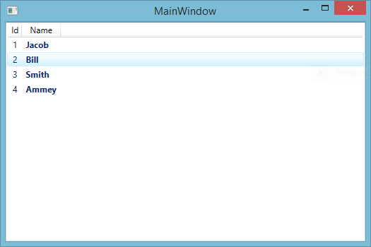 WPF Listview binding with Gridview cell template using EDMX file