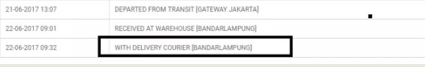 berapa Lama Sampai with delivery courier