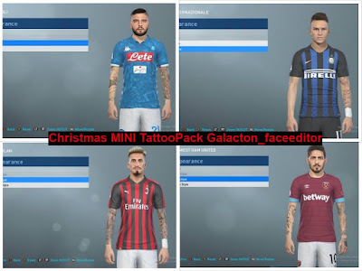 PES 2019 Mini TattooPack by Galacton_Faceeditor