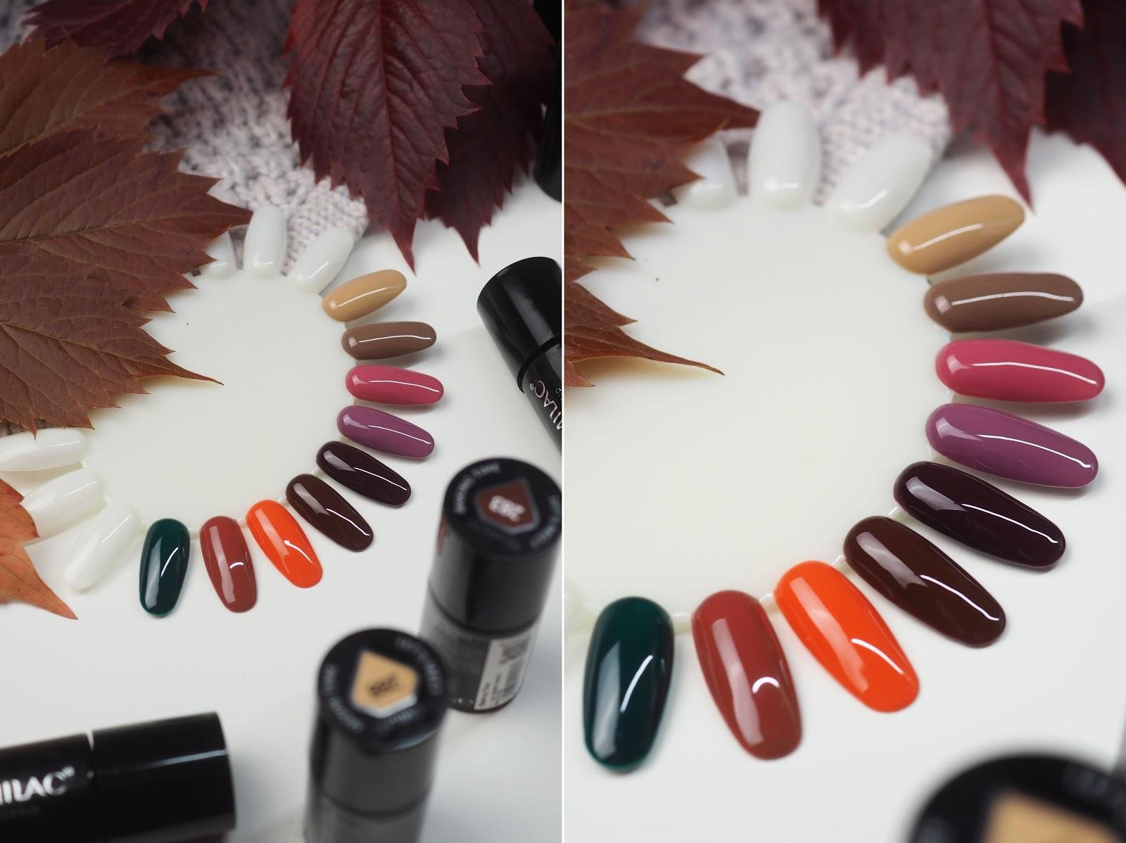 kolory paznokcie na jesień