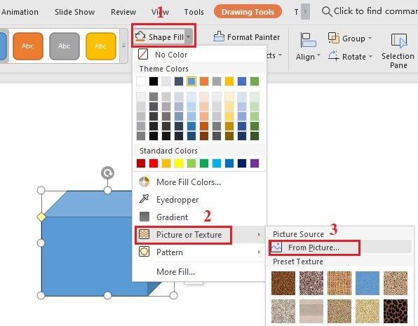How to insert picture in shapes in WPS Office