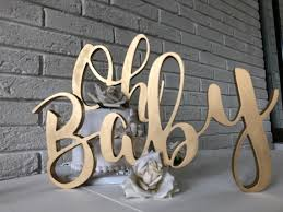 Oh Baby wood sign rental