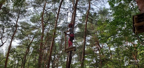 Park linowy przeszkoda hulajnoga