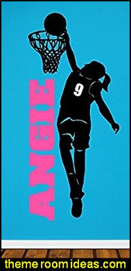 Personalized Girl Basketball Player Decal Wall Sticker