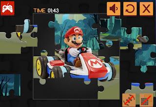 Jogue Mario Kart Jigsaw quebra-cabeças online