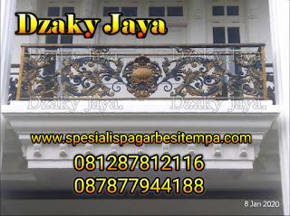 Contoh Produk Balkon Besi Tempa Murah Dzaky Jaya