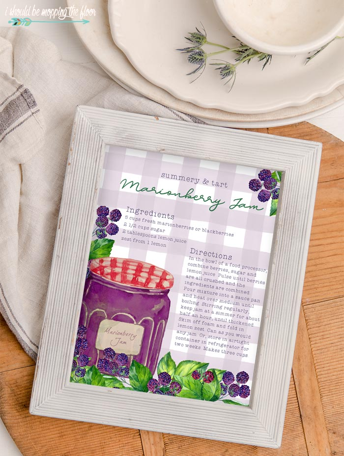 Marionberry Jam Recipe Printable