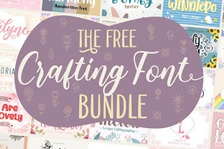 The 40 Crafting Font Bundle